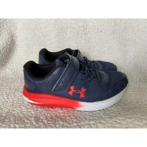 Boys Under Armor Red and Blue sneakers size 12K